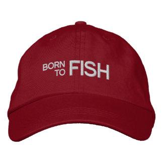 Geboren, Rot gestickten Hut zu fischen Bestickte Baseballmützen