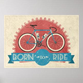 Geboren zu reiten poster