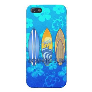 Geboren zu surfen iPhone 5 case