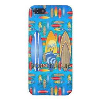 Geboren zu surfen iPhone 5 cover
