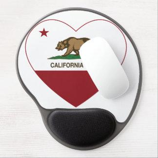 Geborenes Herz Kaliforniens Gel Mouse Matte
