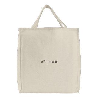Gebrauchstasche: Eulers Identität gestickt, groß, Bestickte Tragetasche