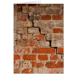 Gebrochene Backsteinmauer Karte