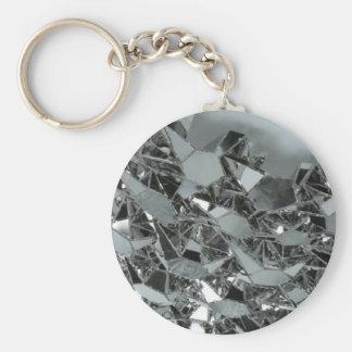 Gebrochene Glasstücke Standard Runder Schlüsselanhänger