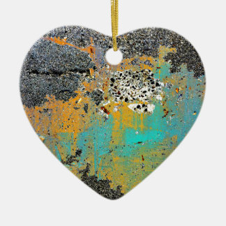 Gebrochene konkrete Reihe Keramik Herz-Ornament