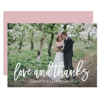 Gebürstete Hochzeit danken Ihnen Foto-Karte Karte