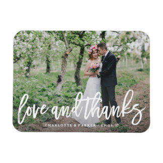 Gebürstete Hochzeit danken Ihnen Foto-Magnet Magnet