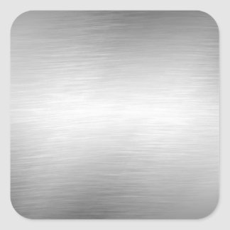 Gebürstete Metallblick-Aufkleber Quadrat-Aufkleber