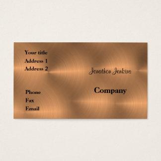 Gebürstetes Kupfer Visitenkarte