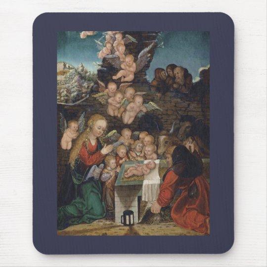 Geburt Christi, die Engel kennzeichnet Mousepad