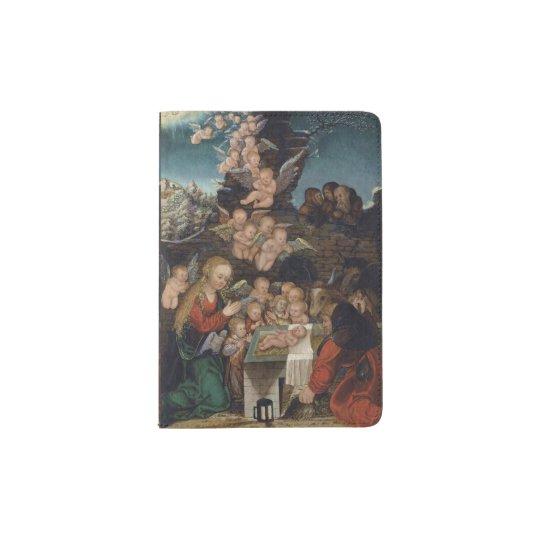 Geburt Christi, die Engel kennzeichnet Passhülle