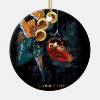 Geburt Christi - griechische orthodoxe Keramik Ornament