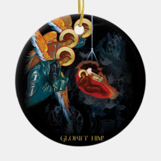 Geburt Christi - griechische orthodoxe Rundes Keramik Ornament