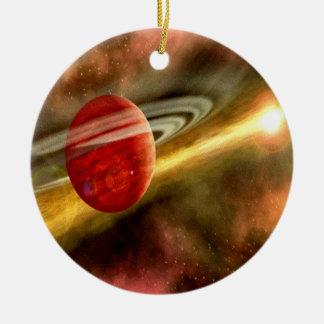 Geburt von Saturn Rundes Keramik Ornament