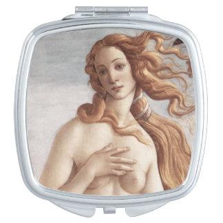 Geburt von Venus im Detail durch Sandro Botticelli Schminkspiegel