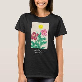 Gebürtige Blumen Shodo Kawarazaki Kunst T-Shirt