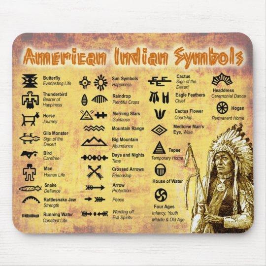 Gebürtige Ureinwohner-Symbole Mauspad