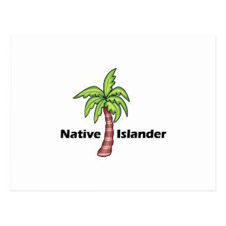Gebürtiger Inselbewohner Postkarte