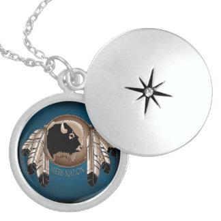Gebürtiger Kunst-Halsketten-Geist-Büffel Metis Sterling Silberkette