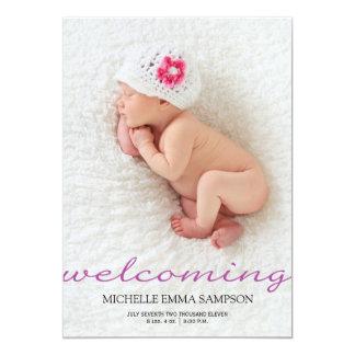 Geburts-Mitteilung 12,7 X 17,8 Cm Einladungskarte