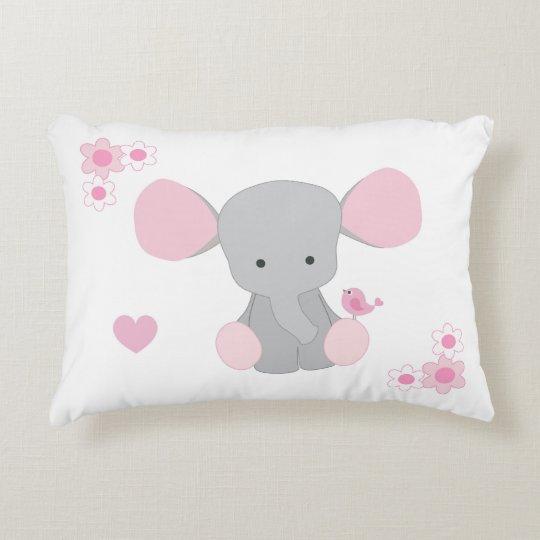 geburts notfall baby elefant rosa graues grau deko kissen zazzle. Black Bedroom Furniture Sets. Home Design Ideas
