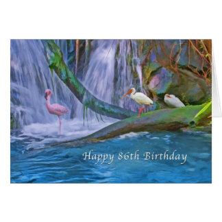 Geburtstag, 86., tropischer Wasserfall, wilde Karte