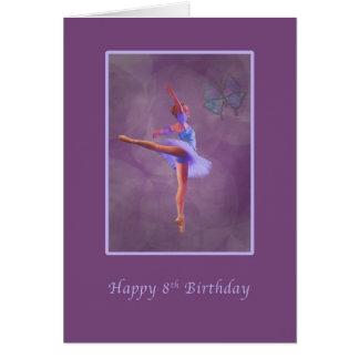 Geburtstag, 8., Ballerina in der Arabeske Karte