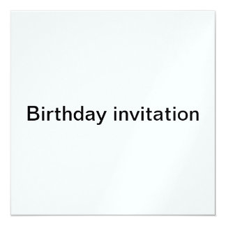 Geburtstag invitaton quadratische 13,3 cm einladungskarte