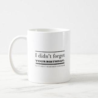 Geburtstag Kaffeetasse