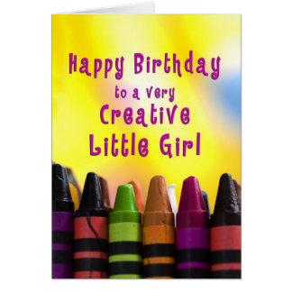 Geburtstag - kleines Mädchen - kreativ - Grußkarte
