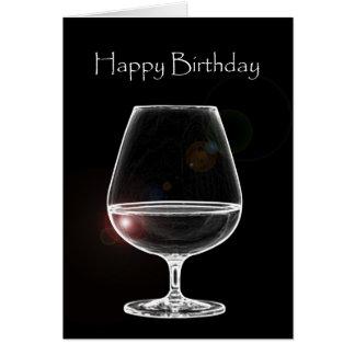 Geburtstag mit Weinbrand Karte