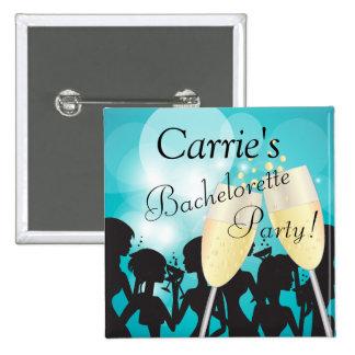 Geburtstag oder Bachelorette Diva-Mädchen-Nacht Quadratischer Button 5,1 Cm