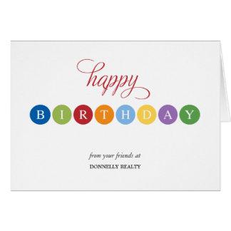 Geburtstag sprudelt Geschäfts-Geburtstagskarten Mitteilungskarte
