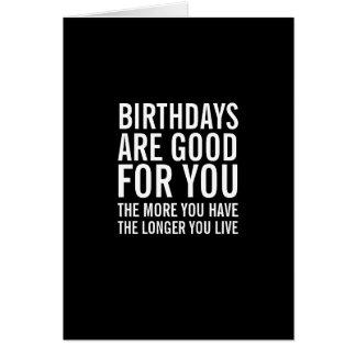 Geburtstage sind für Sie lustige Geburtstags-Karte Grußkarte