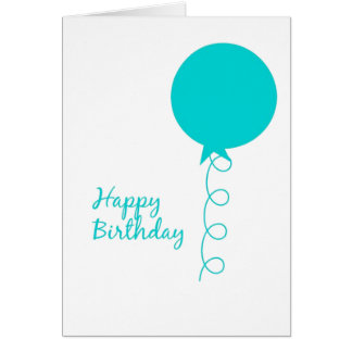 Geburtstags-Ballon-Karte Karte