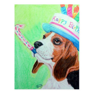 Geburtstags-Beagle Postkarte