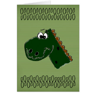 Geburtstags-Dinosaurier Grußkarte