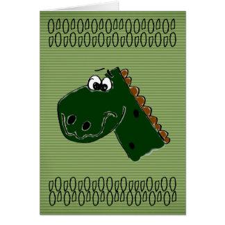 Geburtstags-Dinosaurier Karte