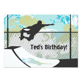 Geburtstags-Einladung - Skateboard Karte