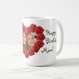 Geburtstags-Foto-Rosen-Tasse der Mutter Tasse