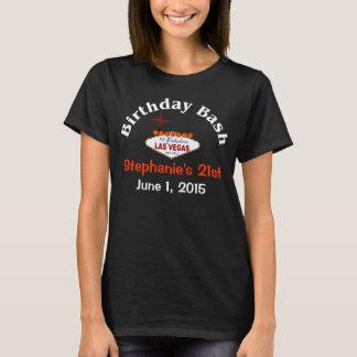 Geburtstags-Frau-T - Shirt Las Vegas 21.