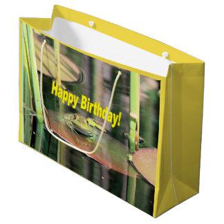 Geburtstags-Frosch Große Geschenktüte