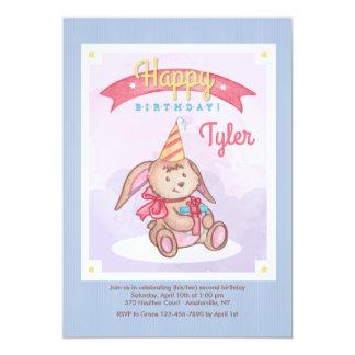Geburtstags-Häschen-Einladung 12,7 X 17,8 Cm Einladungskarte