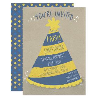 Geburtstags-Hut-Einladung 12,7 X 17,8 Cm Einladungskarte
