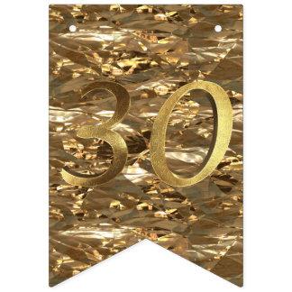 Geburtstags-Jahrestags-Gold der Nr.-30 Wedding 30. Wimpelketten
