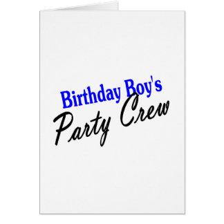 Geburtstags-Jungen-Party-Crew Grußkarte