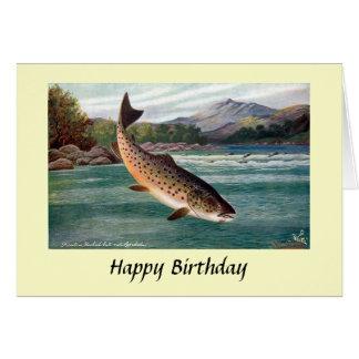 Geburtstags-Karte - Forelle Karte