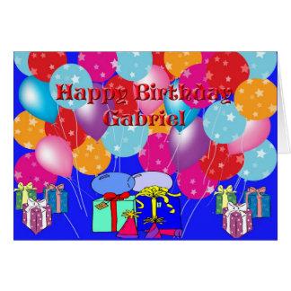 Geburtstags-Karte für Gabriel Karte