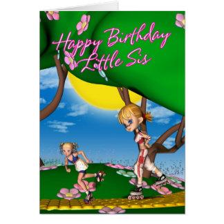 Geburtstags-Karte für kleine Schwester Karte