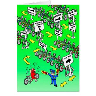 Geburtstags-Karte für Radfahrer - Triathlon-Polizi Grußkarte